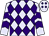 Lavender, purple diamonds, purple chevrons on sleeves (Harold Lerner Llc)
