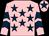 Pink, dark blue stars, chevrons on sleeves, pink cap, dark blue star (Mr Matthew & Mrs Rachael Gavin)