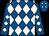 Royal blue, white diamonds (Jerry Durant)