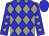 Blue, Grey Diamonds, Blue Cap (Neversink Stables)
