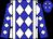 Blue, white diamonds and braces (Shelton, Lisa And Major, Teresa L)