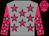 Grey body, rose stars, rose arms, grey stars, rose cap, grey stars (C Pasik/p Ferran/mme Drouillet)