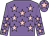 Mauve, pink stars, mauve cap, pink star (Mrs Christine Hopper And Carl Chapman)
