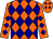 Orange, navy diamonds (Sterling Farm Wv Llc)