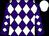 Purple, white diamonds, white cap (Diamond Racing Inc And Janssen, Jay And Joan)