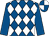 Royal blue, white diamonds, royal blue sleeves, royal blue and white quartered cap (Jerry Tillis)