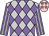 Silver & mauve diamonds, mauve & silver striped sleeves, silver stars on pink cap (Tam Kwok Cheung)