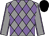 Grey body, mauve diamonds, grey arms, mauve seams, black cap (J Poiroux)
