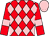 red, pink diamonds, pink armlets, pink cap (Planet Racing Syndicate)