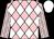 Pink, white diamonds, white stripes on sleeves, white cap (Mtcp Stables Iii)