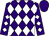 Purple, white diamonds, purple cap (Lenihan, Thomas F , Dalby, Edward And Weis, Raymond)