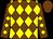 Chocolate, yellow diamonds, chocolate cap (William Schettine)