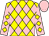 Yellow, pink diamonds front and back, yellow diamonds on pink sleeves, pink cap (J K Racing Stable Llc And Chandler, Bruce)