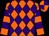 Orange, purple diamonds, purple hoops on orange sleeves, orange and purple quartered cap (Lay, Michael, Loughry, Mike And D Mac Racing Stable, Inc)