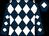 Dark blue and white diamonds, dark blue cap, white diamond (Holloway Kingston Partnership)