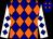 Navy blue, orange diamonds, navy diamonds on white sleeves (Lay, Kevin, Meshke, Paul And Gabler, Charlene)