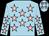 Light blue, pink stars (Ms R Carey)