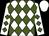 White, forest green diamonds, white cap (Troy Pratt)