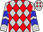 Silver, red diamonds, blue chevrons on sleeves (Rps Racing Stable Llc)