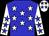 Big-blue body, white stars, white arms, big-blue stars, white cap, big-blue stars (D Dahan/s Taieb)
