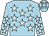 Light blue, white stars (A Elferjani)