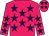 Rose body, purple stars, rose arms, purple stars, rose cap, purple stars (M lehmann)