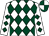 White & dark green diamonds, quartered cap (Ciaran McGrath)