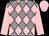 Grey body, rose diamonds, rose arms, rose cap (Jm Jm Capitte)