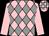 Pink, grey diamonds, pink sleeves, check cap (Woodlands Racing Syndicate)