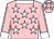 Bright pink, white stars and collar, bright pink sleeves, white seams and cuff, bright pink (Messrs J E Stewart, E E Griebenow & J V A Strydom)