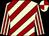 Beige and burgundy diagonal stripes, striped sleeves, quartered cap (Messrs N S Naidoo & Y Naidu, S Heeramun & L J Muir)