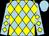 Light blue and yellow diamonds, light blue cap (Mr Abdulaziz Alqallaf)