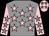 Grey, pink stars, pink arms, grey stars, pink cap, grey stars (C Pasik/p Ferran/mme Drouillet)