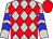 Silver, red diamonds, blue chevrons on sleeves, red cap (Rps Racing Stable Llc)