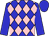 Blue, pink diamonds, blue sleeves and cap (Ch Lejeune)