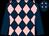 Dark Blue, Pink diamonds, Dark Blue sleeves, Dark Blue cap, Pink diamonds (Mme C Douillet)