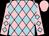 Pink and light blue diamonds, pink cap (Mrs Tessa Winkworth)