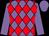 Mauve, red diamonds, mauve sleeves and cap (D G Chavatte)