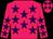 Rose body, purple stars, rose arms, purple stars, rose cap, purple stars (M lehmann)