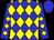 Blue, yellow diamonds, blue cap (Zimmerman, Scott)