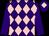 Purple and pink diamonds, purple sleeves, purple cap, pink diamond (The Cornish Barmies)