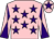 Pink, purple stars, diabolo on sleeves and star on cap (Mrs Angela Hart & Mrs Angela Yeoman)