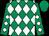 Emerald green and white diamonds, emerald green cap (T F P)