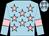 Light blue, pink stars, armlets and stars on cap (Mr Andrew Nicholls)