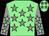 Light green, grey stars, grey sleeves, light green stars, light green cap, grey stars (Hasson Syndicate)