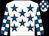 White, royal blue stars, check sleeves & cap (Robert Murphy)