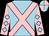 Light blue, pink cross belts, pink sleeves, light blue diamonds, light blue and pink quartered cap (Mr C M Graham)