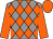 Grey and orange diamonds, orange sleeves and cap (Fishdance Ltd)
