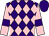 Purple and pink diamonds, pink sleeves, purple armlets, purple cap (Four Nags And A Horse)