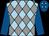 Light blue and grey diamonds, royal blue sleeves, royal blue cap, light blue diamonds (Beachview Corporation Ltd)